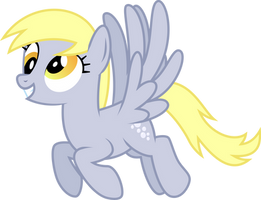 Derpy Hooves Flying Vector by StarshineCelestalis