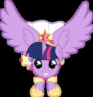 Twilight's First Flight by StarshineCelestalis