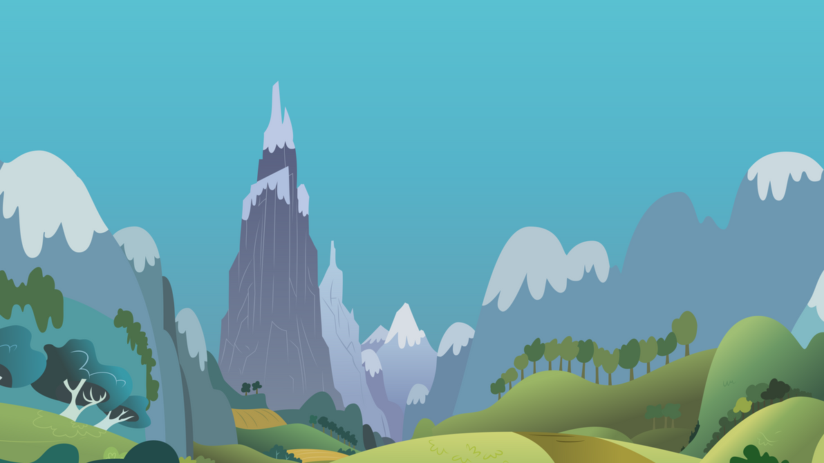 Mountain Landscape Vector by StarshineCelestalis