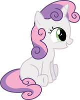 Sweetie Belle Sitting by StarshineCelestalis