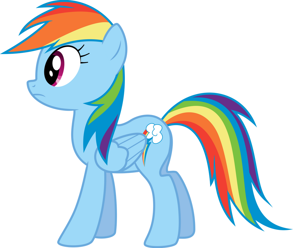 Rainbow Dash Standing by StarshineCelestalis