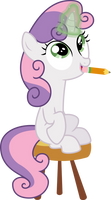 Sweetie Belle Doing Magic by StarshineCelestalis