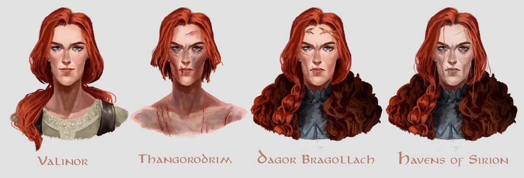 Evolution of Maedhros by Skvorr