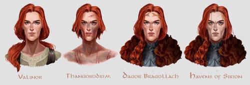 Evolution of Maedhros