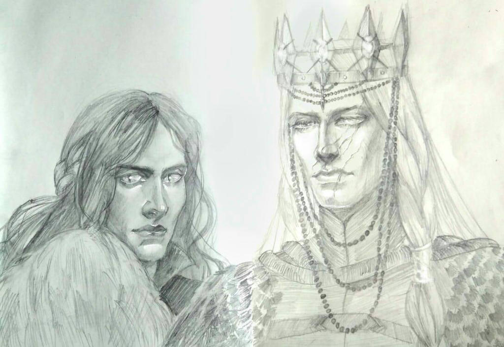 Melkor and Sauron by Skvorr
