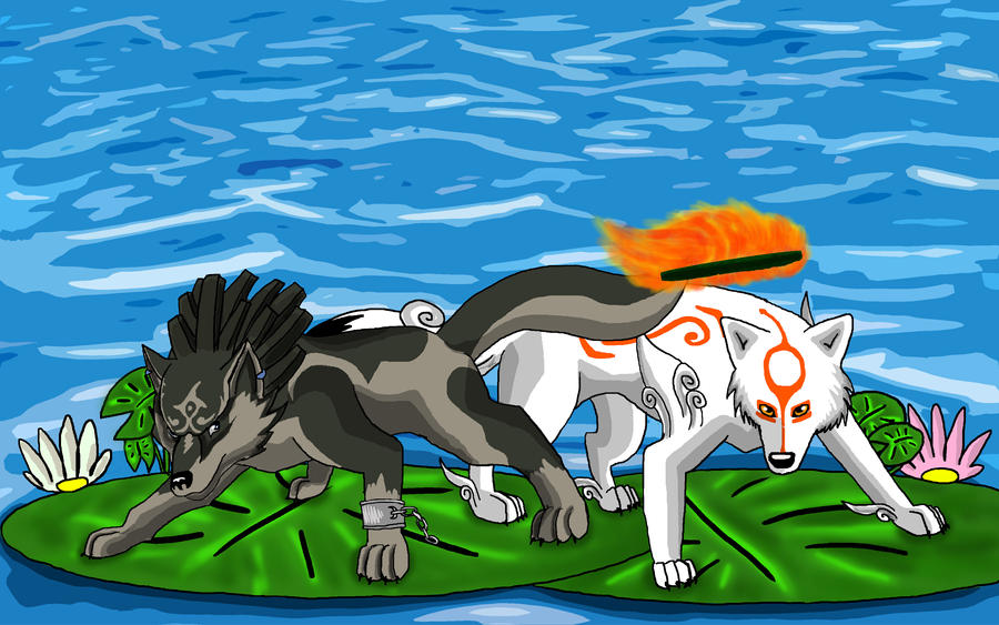 Amaterasu and Wolf Link 2 by 25Tachigami on DeviantArt