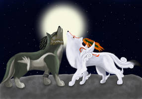 Amaterasu and Wolf Link 6 by 25Tachigami