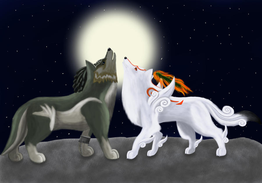 Amaterasu and Wolf Link 6 by 25Tachigami on DeviantArt