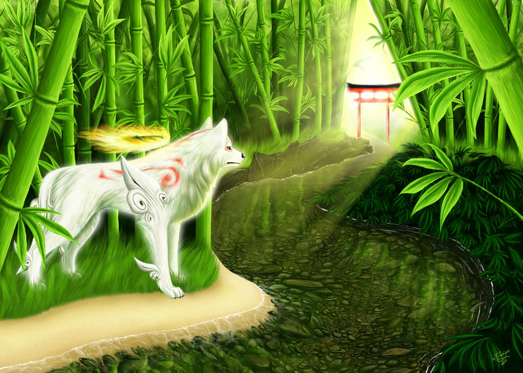 Bamboo Sanctum - Okami Amaterasu by 25Tachigami