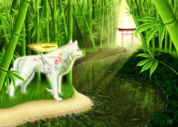 Bamboo Sanctum - Okami Amaterasu by 25Tachigami
