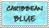 Caribbean Blue Stamp by Momoko-Kawase