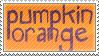 Pumpkin Orange Stamp by Momoko-Kawase