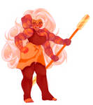 Steven Universe AU - Sunstone (Rose Jasper Fusion)