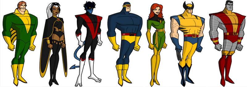 The Uncanny X-men Bruce Timm style