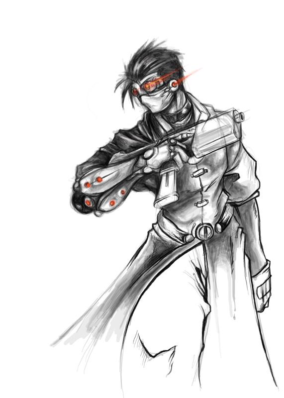Cyborg merc. by zombie-ninja