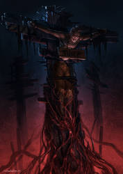 Mire Crucifixion by zombie-ninja