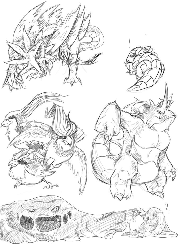 Hardest Pokemon To Draw Images | Pokemon Images