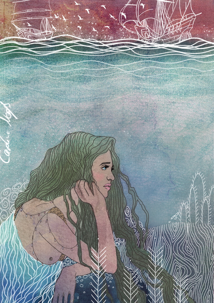 Mermaid  - longing by Mize-meow