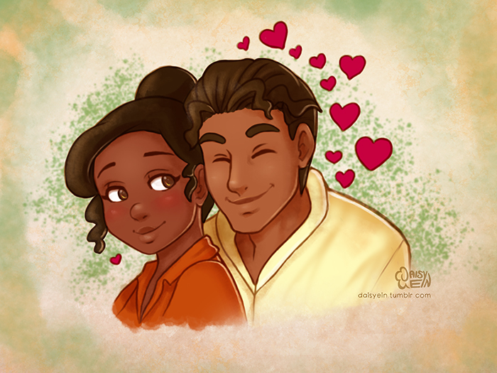princess and the frog tiana and naveen by daisyein on