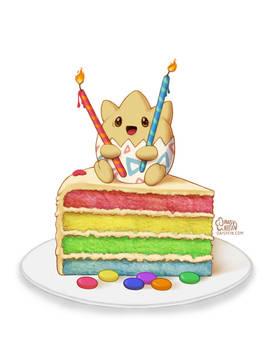 Togepi Rainbow Cake
