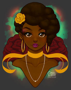 Flowers and Afros: Rose