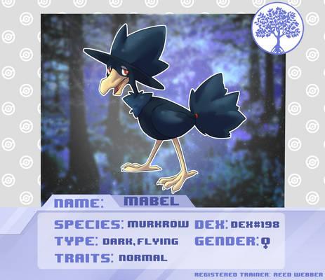 Pokemon Galaxies Ref Sheet Mabel