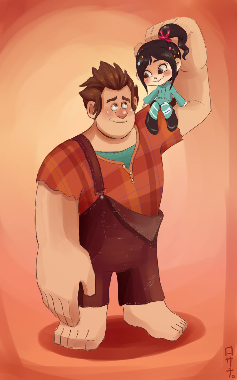 Ralph and Vanellope by Rosana127