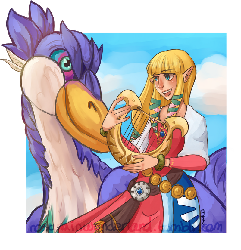 Zelda and her Loftwing by Rosana127
