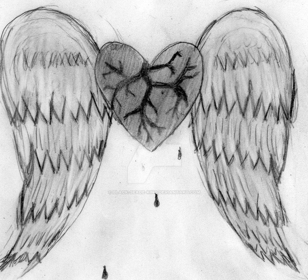 the broken angel u0027s heart by black spade king on deviantart