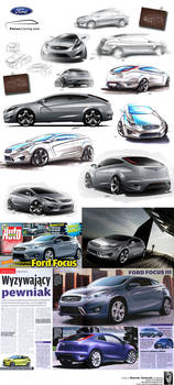 Ford Focus on a cover