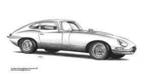 Jaguar E-type illustration