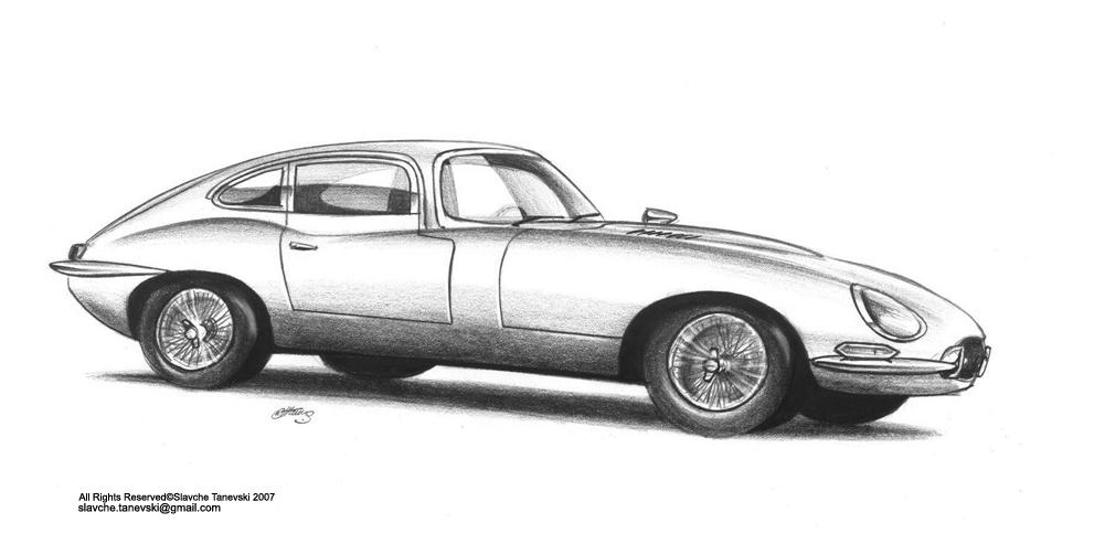 jaguar car drawing - photo #5