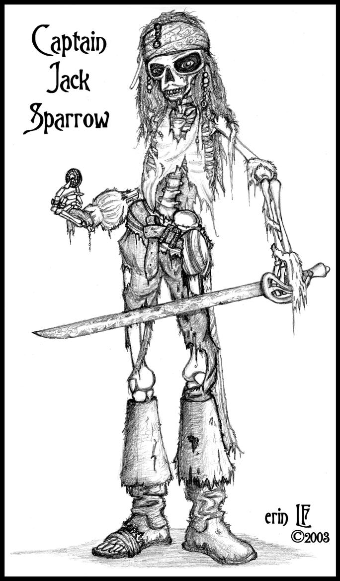 coloring pages jack sparrow - photo#17