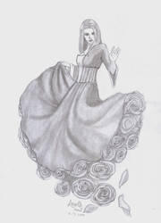 Lady of roses by AngelGuerra