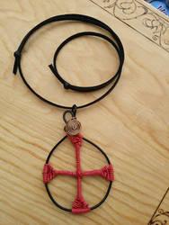 Red cross pendant by AngelGuerra