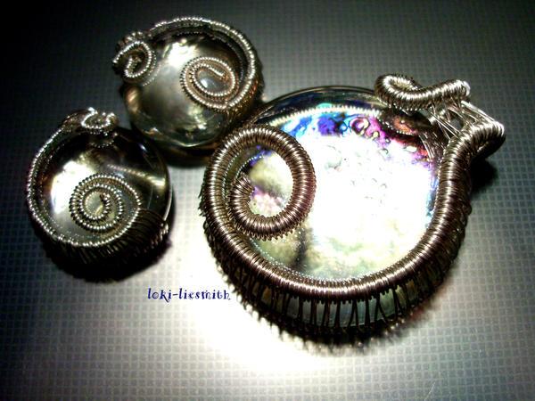 Ice Pendant and Earrings by Loki-Liesmith