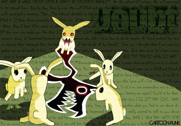 |Juego de Rol| Rabbit Doubt - Ronda 1 Doubt_wallpaper_by_Cartoon_punk