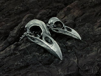 Matching Raven Skull Necklaces