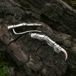Raven Claw Ear Climber Earrings