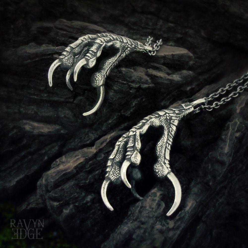Raven Claw Matching Necklace Set for Couples