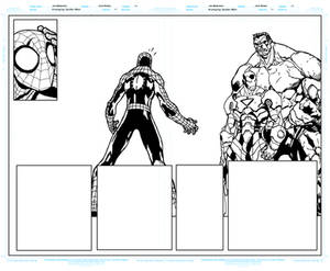 Avenging Spider Man 1 Pages 8 to 9 Pencils By Joe