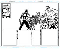 Avenging Spider Man 1 Pages 8 to 9 WIP Update