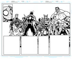 Avenging Spider Man 1 Pages 8 to 9 WIP Ink Update