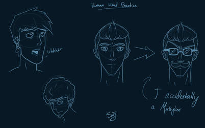Human Head Practice 1 by Sand9k