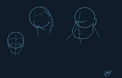 Human Head Practice 2 by Sand9k