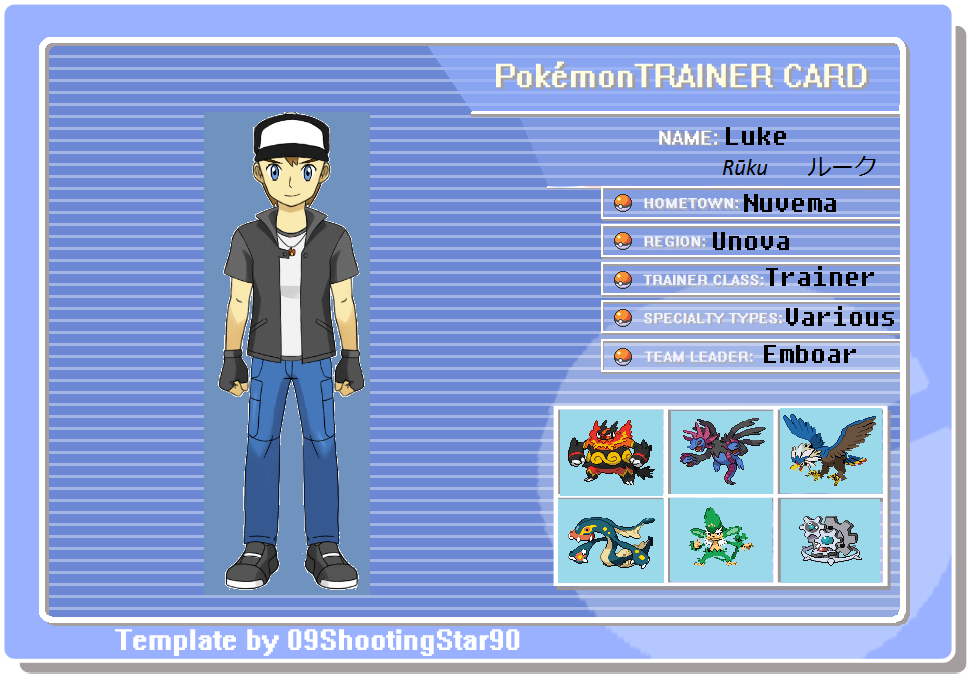 How To Make A Pokemon Trainer Card On Paint How To Make A Pokemon - Pokemon trainer card template