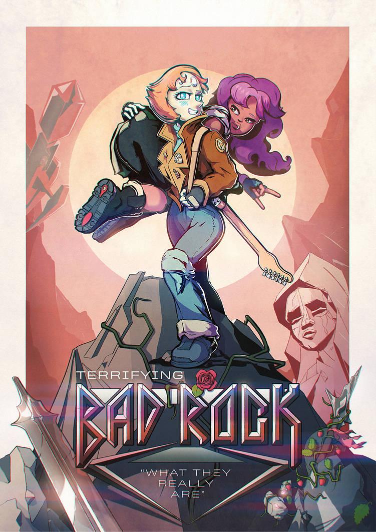 Bad Rock Pearl poster by V-Korneev