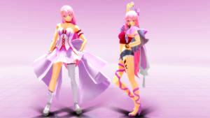 MMD Megurine Luka Dress Pink y Renegade