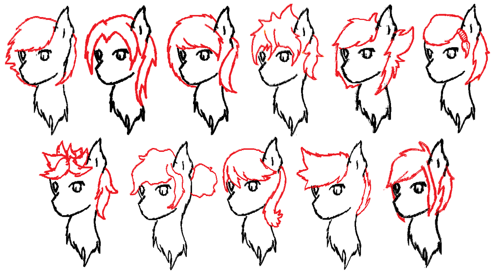 Pony Hairstyles Mlp Hair