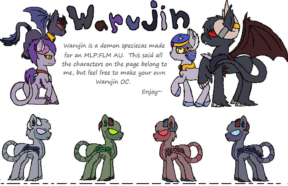 Warujin - new 'pony' species      (open) by RavenPember